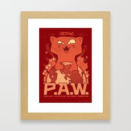 Pussycats for World Domination Framed Art Print