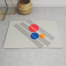 Abstract Suprematism Equilibrium Art Red Blue Yellow Rug