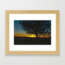 Columbia Va. Sunset in Oil Framed Art Print