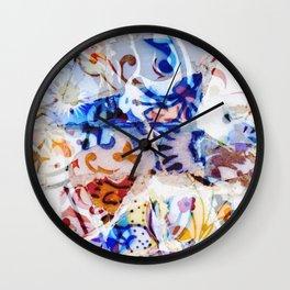 Mosaic of Barcelona VIII Wall Clock