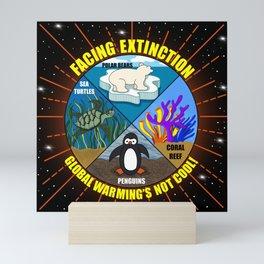 Facing Extinction:  Global Warming's Not Cool Mini Art Print