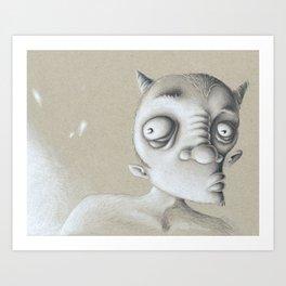 Devil Elf Art Print
