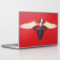 medical Laptop & iPad Skins featuring Medical Corps Snake by ArtSchool
