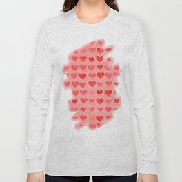 Pink Valentines Love Hearts Long Sleeve T-shirt