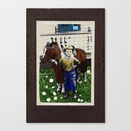 VINTAGE BABY COWBOY ART Canvas Print