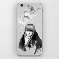 swan iPhone & iPod Skins featuring Swan Love by Ariana Perez
