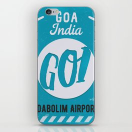 GOI GOA airport tag iPhone Skin