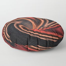 organge red waves and strips an elaborate pattern in strong Faben Floor Pillow