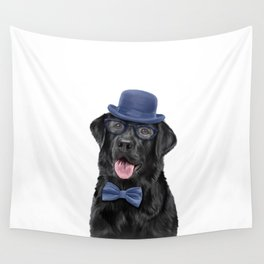 Drawing dog breed Labrador portrait Wall Tapestry