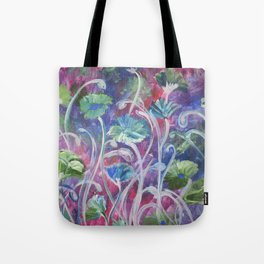 Poppies in the cool of the evening Tote Bag