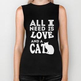 love - Funny Cat Saying Biker Tank