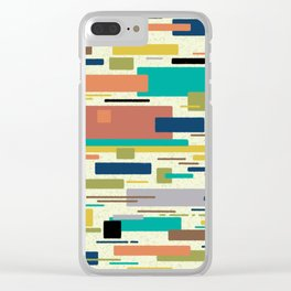 Color block mid century modern minimalism Clear iPhone Case