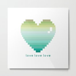 Love love love (acqua) Metal Print