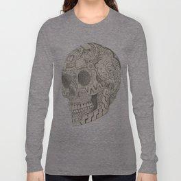 Skull, aztec design Long Sleeve T-shirt