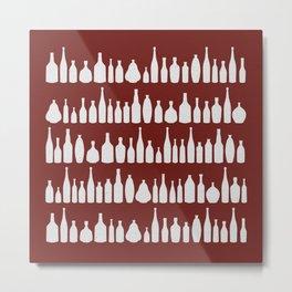 Bottles Red Metal Print
