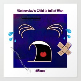 Wednesday's Child Art Print