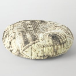 York Minster Cathedral Vintage Floor Pillow