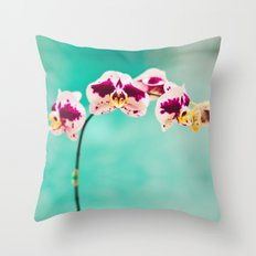 Orchids for an office lobby Throw Pillow