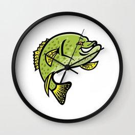 Crappie Fish Mascot Wall Clock