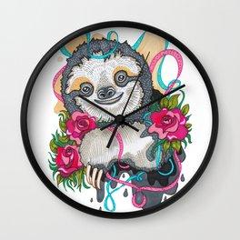 Happy Sloth Wall Clock