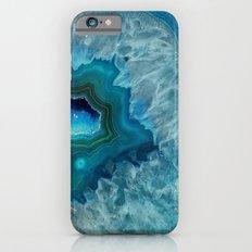 Teal Druzy Agate Quartz iPhone 6s Slim Case