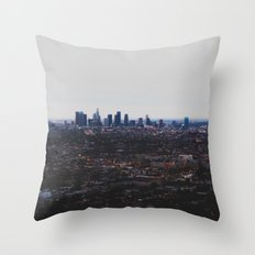 Los Angeles in fog Throw Pillow