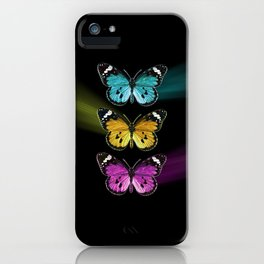 3 colorful butterflies iPhone Case