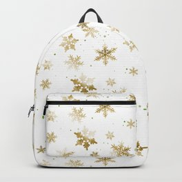 GOLD SNOWFLAKE PATTERN Backpack