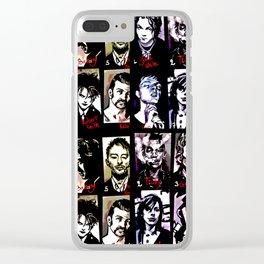 Mugshot Mania Clear iPhone Case