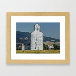 Grain Elevator, Buffalo Montana Framed Art Print