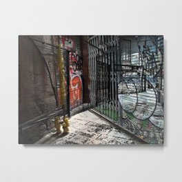 Force the corners, and horn in on the commotion, 4 Metal Print