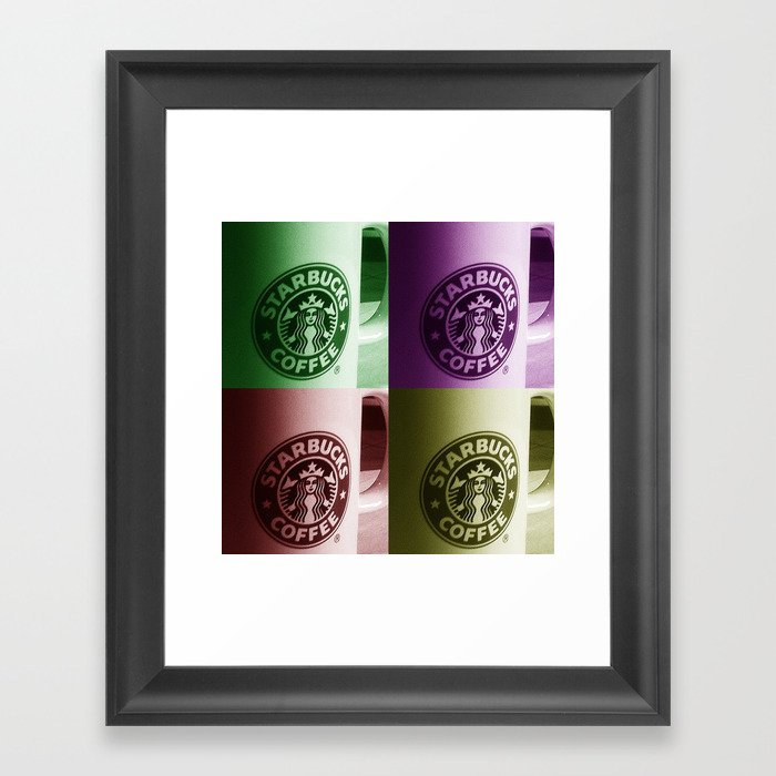Starbucks Framed Art Print By Christhaxter Society6
