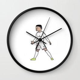 ronaldo christiano cartoon Wall Clock