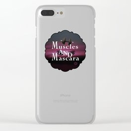 Muscles and Mascara Clear iPhone Case