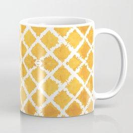 Yellow Turkish Morroccan Ikat Pattern Overall Design by Megan Duncanson Coffee Mug
