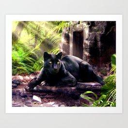 Protector of ancient tempels Art Print