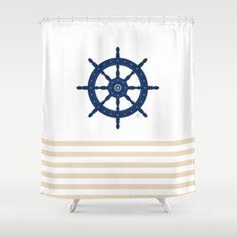 AFE Nautical Wheel 2019 -2 Shower Curtain