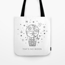 That's No Moon Death Star Hot Air Balloon Storm Tr Tote Bag