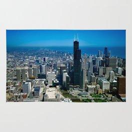 Chicago City Skyline Rug