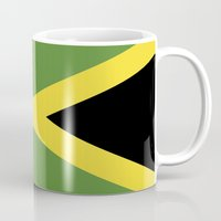 jamaica Mugs featuring jamaica country flag  by tony tudor
