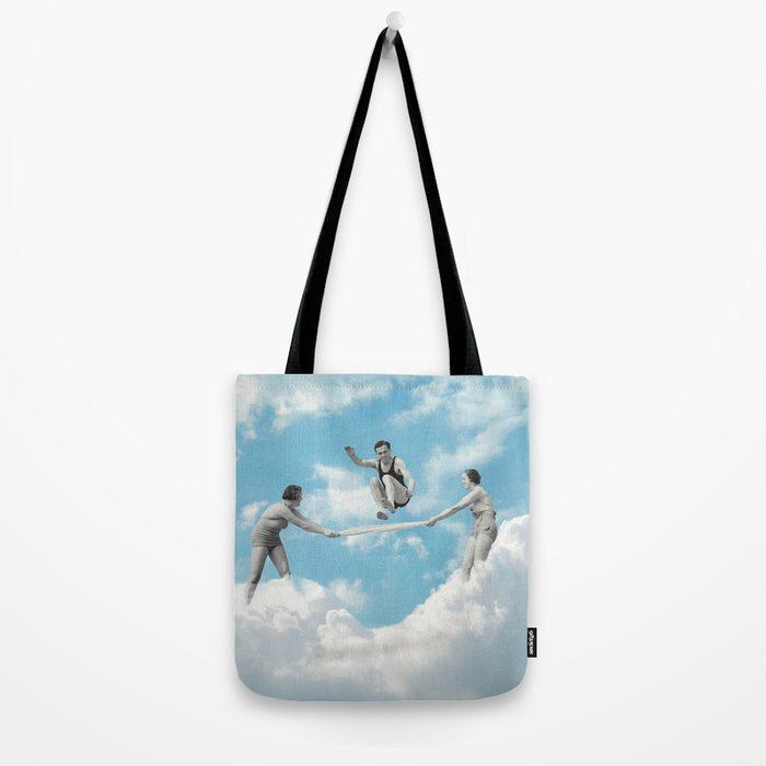 Jumping The Sky Tote Bag