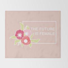 The Future Is Female #society6 #buyart Throw Blanket