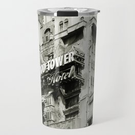 Haunted Hotel Architecture Closeup Antiqued Travel Mug