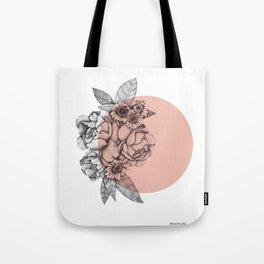 Peonies & sunflowers Tote Bag