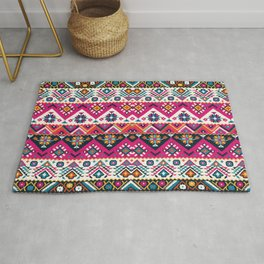 N59 - Anthropologie Oriental Traditional Pink Moroccan Style Artwork. Rug