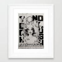 technology Framed Art Prints featuring technology by Robson Clecio
