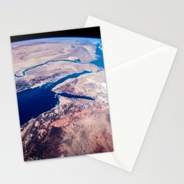 Earth from the space Stationery Cards