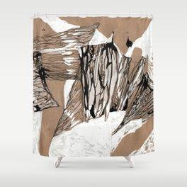 Stratification Shower Curtain