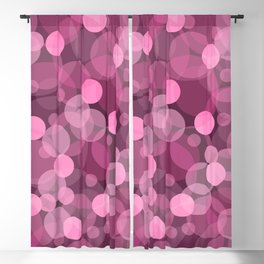 Pink Bubbles 2 Blackout Curtain