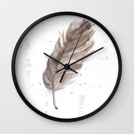 Found feather Wall Clock